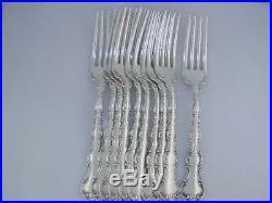 10 Sterling GORHAM 7 Luncheon Size Forks STRASBOURG new mark no mono