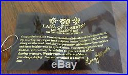 1992 Lana of London Lana Marks Sterling Silver Vermeil & Ruby Leo Belt Buckle