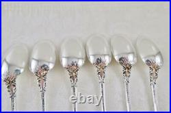 6 ORIGINAL Gorham CHANTILLY Sterling Silver Iced Tea Spoons Old LAG Mark No Mono