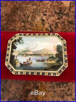 A Swiss Enamelled Gold Snuff-box By Rémond, Lamy & Co, Marked, Geneva, 1801-1804