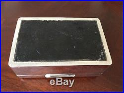 ANTIQUE ASPREY & CO LTD STERLING SILVER CIGARETTE/CIGAR BOX Marked A&Co Ltd