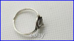 Antique 1930's Sterling Silver Marked Mask Fox Horseshoe Dimensionless Ring