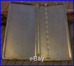 Antique Engraved Sterling Silver (marked 950) Cigarette Case 192g No Monogram