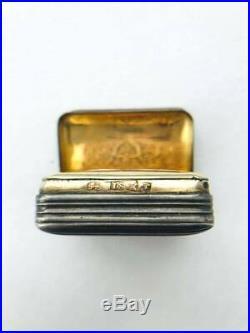 Antique Europe Gilt Sterling Silver Filigree Trinket Box Snuff Box Marked