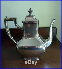 Antique Gorham Sterling Silver Coffee Set Pot Creamer Sugar 1913 Art Deco Marked