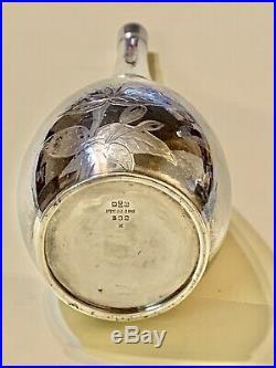 Antique LARGE 1853 mark GORHAM Mark Solid Sterling Silver Perfume Bottle RARE