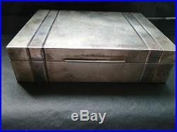 Art Deco Sterling Silver Cigarettes /jewellery Box, Italian Circa 1930, Marked