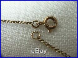 Bambles Vintage Silver 900 Necklace Bohemian Garnet Gilt Marked 900 G3 Czech