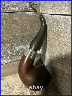 Beautiful Estate Peterson Mark Twain Pipe with Sterling Silver Band Peterson's