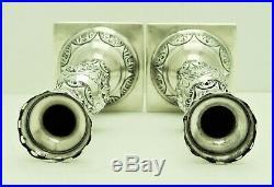 Belarus Minsk Russian Solid Silver Shabbat Candlestick Marked SLKARKA 1878