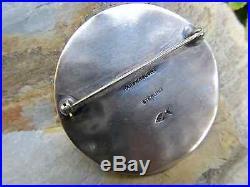 Brutalist Sterling Silver 925 Pin Modernist Handwrought Fish Mark Brooch 25g