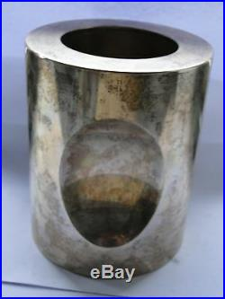 Bvlgari Sterling Silver Pen Holder, Marked, Italy 1972, Great Style