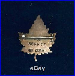CEF Canadian YMCA cap badge or sweetheart pin-1917 London sterling silver marked