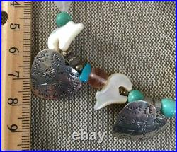 Carolyn Pollack 2 Heart Concha NW Turquoise 7 Bear 925 Southwestern Heart Set