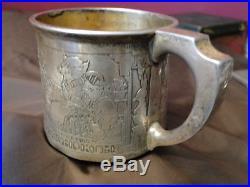Child Mug Nursery Rhyme Theme-sterling Silver Made By Gorham Marked