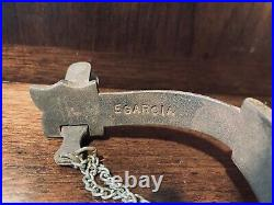 Classic Handmade Sterling Silver Inlay Snake Spurs Single Mounted Maker Marked