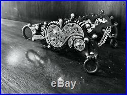 Classic Sterling Silver Filigree Santa Barbara Show Bit Tapia Style Maker Marked