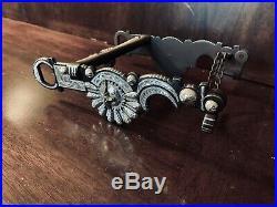 Classic Sterling Silver Inlay Santa Barbara Steer Head Show Bit Maker Marked