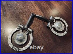 Classic Sterling Silver Overlay Rope Concho Snaffle Bit Maker Marked Garcia