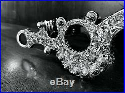 Classic Sterling Silver Overlay Santa Barbara Spade Show Bit Maker Marked