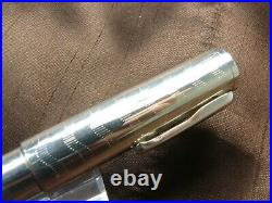 Conklin Mark Twain Sterling Silver Crescent Fountain Pen Jowo Omniflex Nib /new