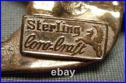 Coro-Craft Pegasus Mark Sterling Vermeil 2 Swallow Bird Clips DUETTE Brooch Pin