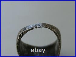 DAK 1943 German WW2 Ring WWII Sterling silver Mark 835 Germany Palm Trench art