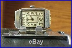 DUNHILL STERLING SILVER B Size SPORTS Petrol Watch Lighter Import Marks for 1927