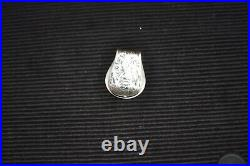 E. H. Bohlin Money Clip, Very Nice, Maker Marked, Sterling Silver And 14k