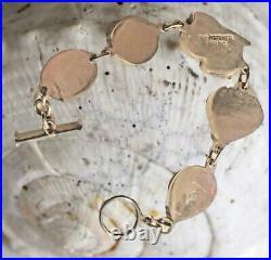 ECHO OF THE DREAMER, 925 Sterling & Carved Gemstone Bracelet, 7.25, 25g, Marked
