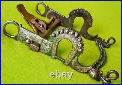 Eduardo Grijalva Marked EG Vintage STERLING Silver Inlay SPADE BitHORSESHOE