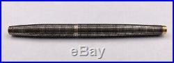 Elegant VTG Sterling Silver Parker Fountain Pen WithGold Trim 14K Nib Marked USA