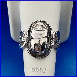 Estate Art Deco Art Nouveau European Marked Sterling Silver Scarab Ring