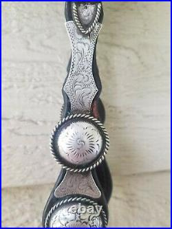 Fantastic VINTAGE Silver Headstall Bridle Marked STERLING