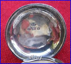 Fine Antique English 7 Hall Marks Sterling Coin Holder Watch Fob Dated 1906