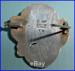 GEORG JENSEN Denmark ART DECO Pin Brooch in Sterling Silver # 71 GJ MARK