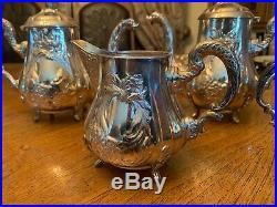GORGEOUS ELEGANT MARKED SPANISH STERLING SILVER 925 TEA & COFFEE SET. 3140 gr