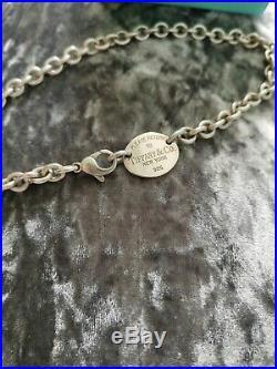 Genuine Tiffany & Co Oval Toggle Necklace Full UK Assey Mark