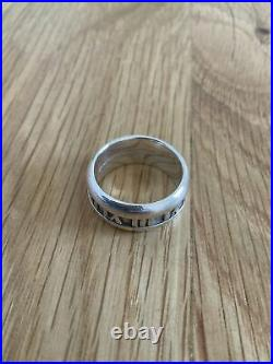 Genuine Tiffany & Co Silver Atlas Sterling Silver Assay Marked Ring
