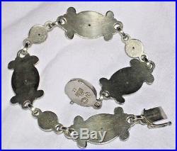 Georg Jensen 7.5 Sterling Silver 2 Marks Bracelet #11 Denmark Moonlight Blossom