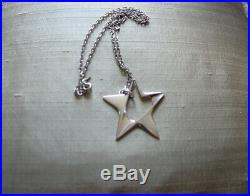 Georg Jensen Silver Pendant With Chain, Import Marks For 1977