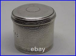 Georgian Silver Box. London c1818 Makers Mark WP. 45Grams. George III, Stunning