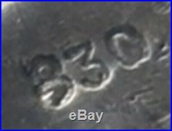 German ww2 ring WWII Skull Helmet Sterling silver 830 Germany jewelry mark us10