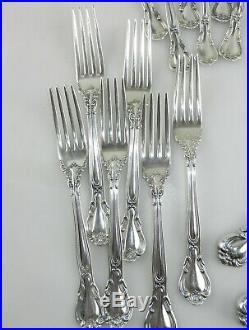 Gorham Chantilly Sterling Silver Dinner Flatware 6 Pl Sets 24 Pcs New Mark T01