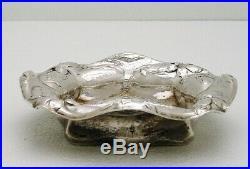Gorham Martele Art Nouveau Sterling Silver Bon-Bon Dish Marked LMM made 1905