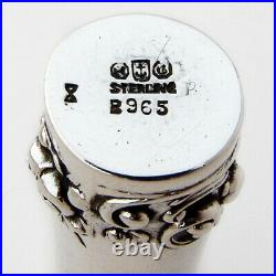 Gorham Repousse Cylinder Form Case Sterling Silver 1901 Date Mark