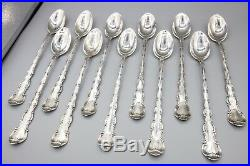 Gorham Strasbourg Iced Tea Spoons, Sterling Silver, New Mark, 7 5/8 Set of 11