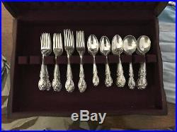Gotham Melrose Sterling Silver Flatware Huge Set In Box 117 Pieces Marked