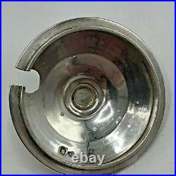 Greek Key Art Deco Jar English Silver AD Marked Alfred Dunhill & Sons Glass