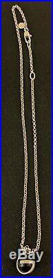 Gucci necklace silver ball G motif G mark Lady's SV925 pendant stone black